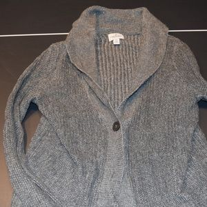 Women's S Grey/Graphite American Eagle Cardigan